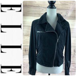 💕SALE💕Elle Black Motorcycle SideZip Sweater Coat